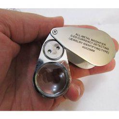 لوپ جواهر شناسی و زمین شناسی 40X با قطر 25 میلیمتر