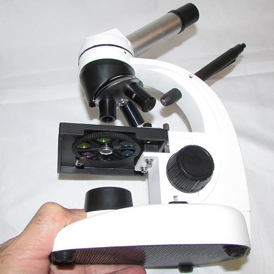 نمای فیلترهای رنگی میکروسکوپ بیولوژی تک چشمی 640 برابر دوربین دار