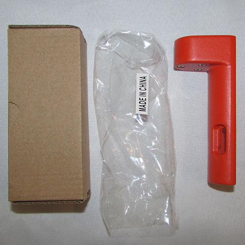 بسته بندی تراز نبشی فلزی قرمز رنگ