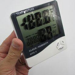 نمای ابعاد دماسنج دیجیتال مدل HTC1 دارای سنسور رطوبت سنج