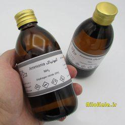 سایز بسته بندی آمونیاک آزمایشگاهی ۲۵ درصد در بطری 250cc